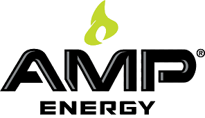 Amp Energy Logo. Amp Energy is one of the leading brands that used SYNQY's new Retail Media Solution