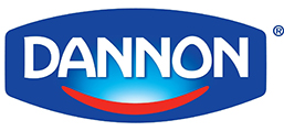 Logo of Dannon. Dannon is one of the leading brands that use SYNQY's new Retail Media Solution