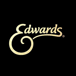 Logo of Edwards. Edwards is one of the leading brands that use SYNQY's new Retail Media Solution